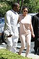 kim kanye out for a walk 03