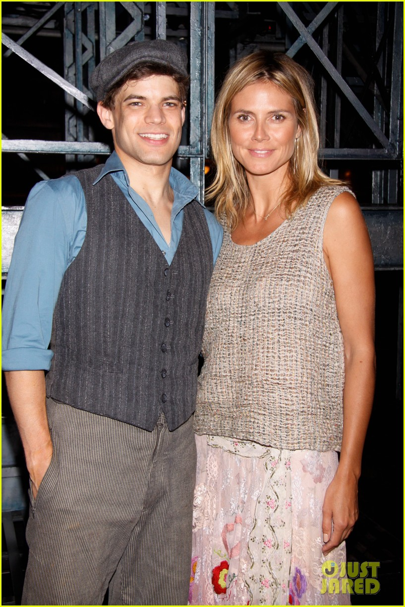heidi klum broadways newsies with the kids 14