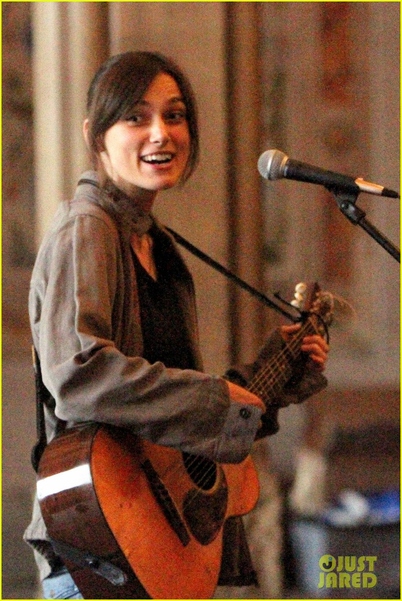 keira knightley playing guitar on song set 12