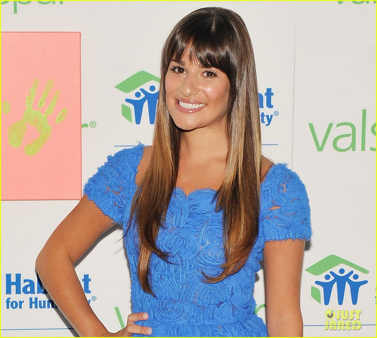 lea michele hands for habitat unveiling 102689856