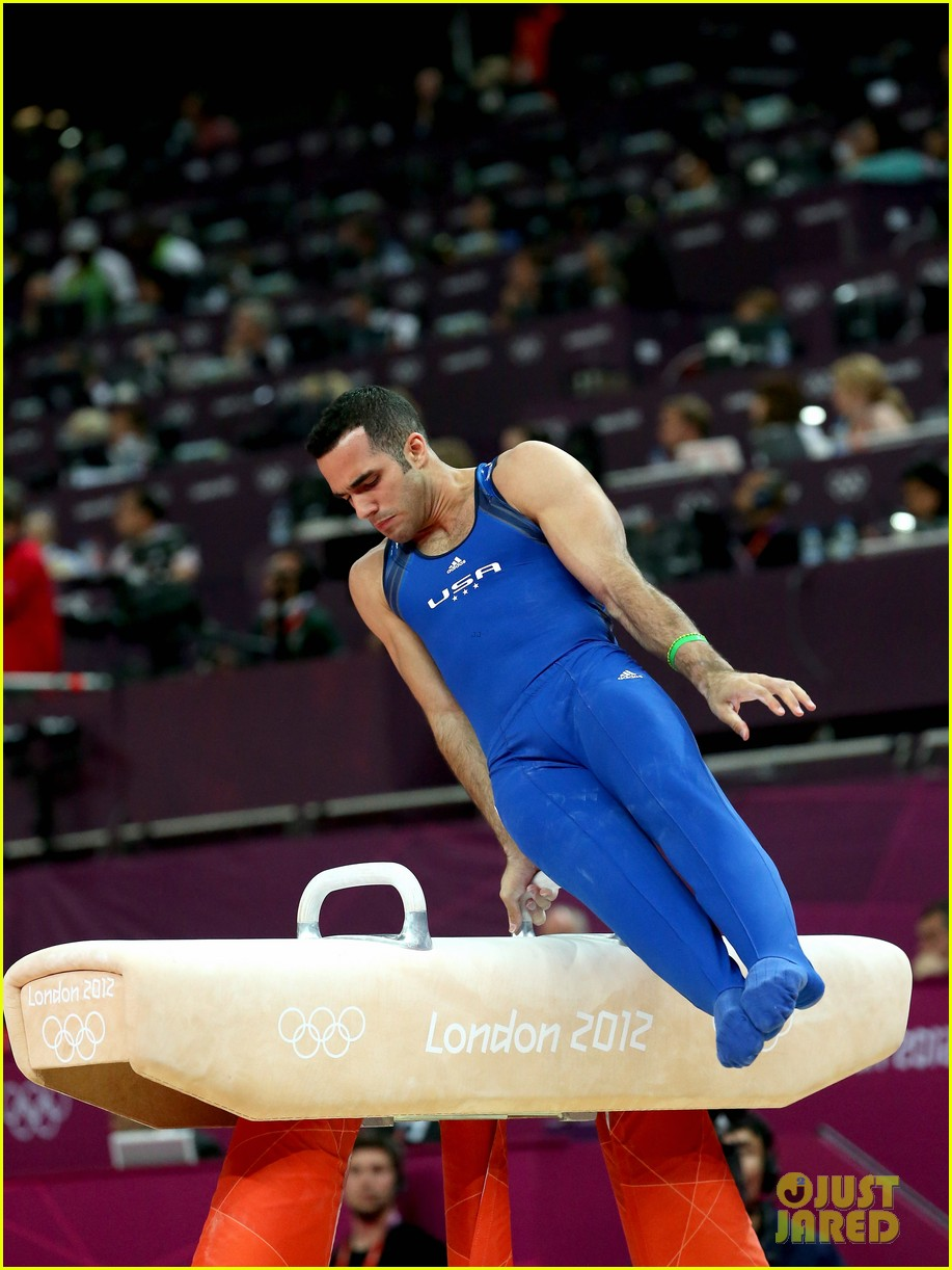 usa mens gymnastics team leads at london olympics 10