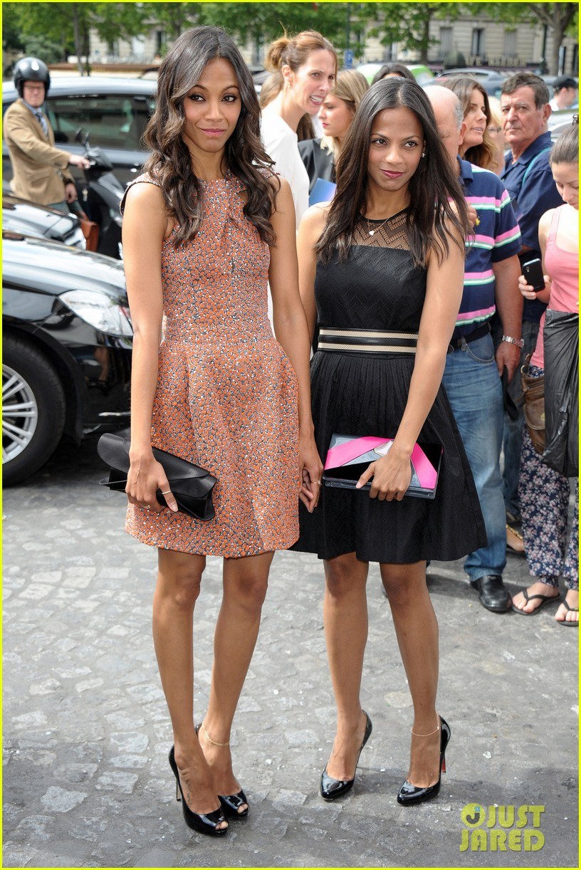 zoe saldana shailene woodley armani show 13