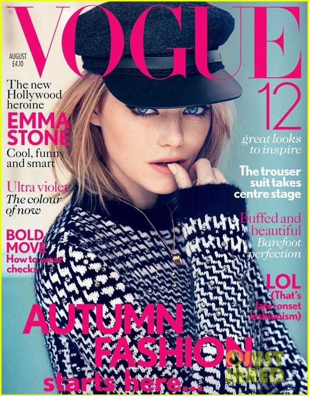 emma stone vogue uk august 2012