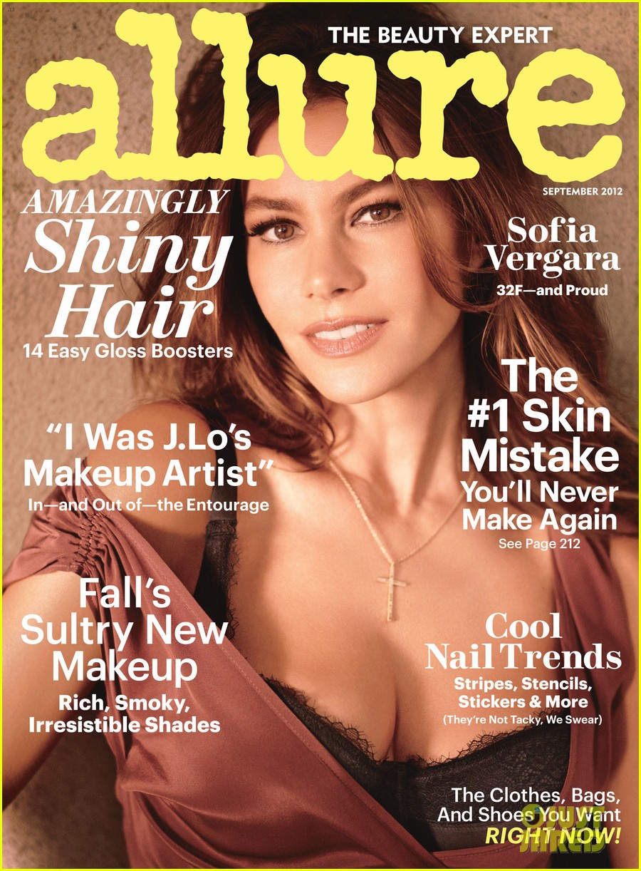 sofia vergara reveals bra size in allure september 2012