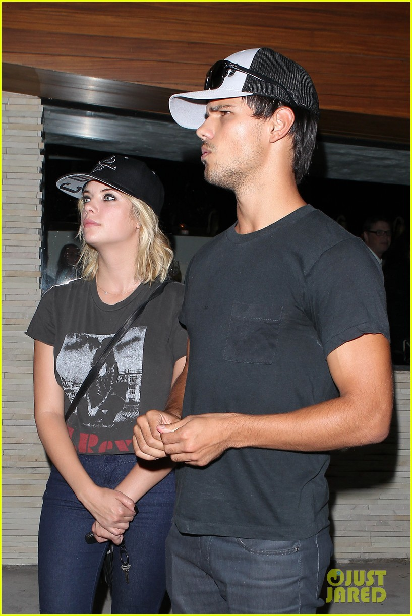 taylor lautner ashley benson red o dinner duo 222699521