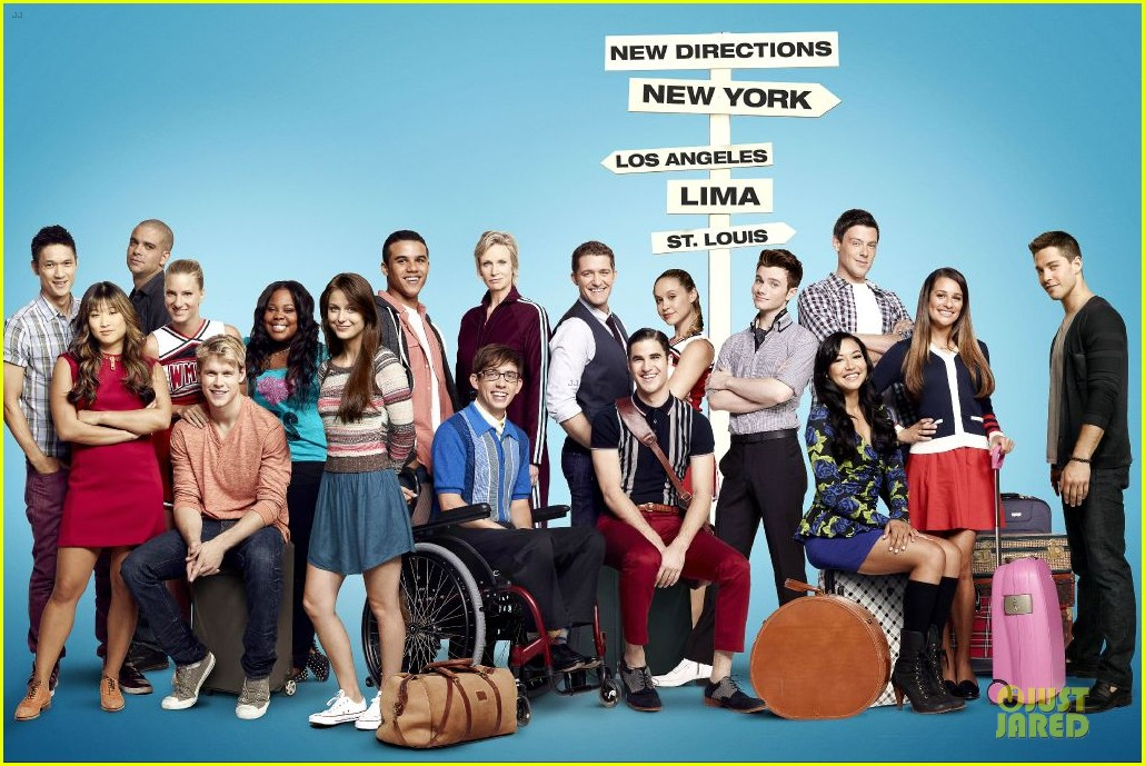 dianna agron missing from glee season 4 promo poster 01