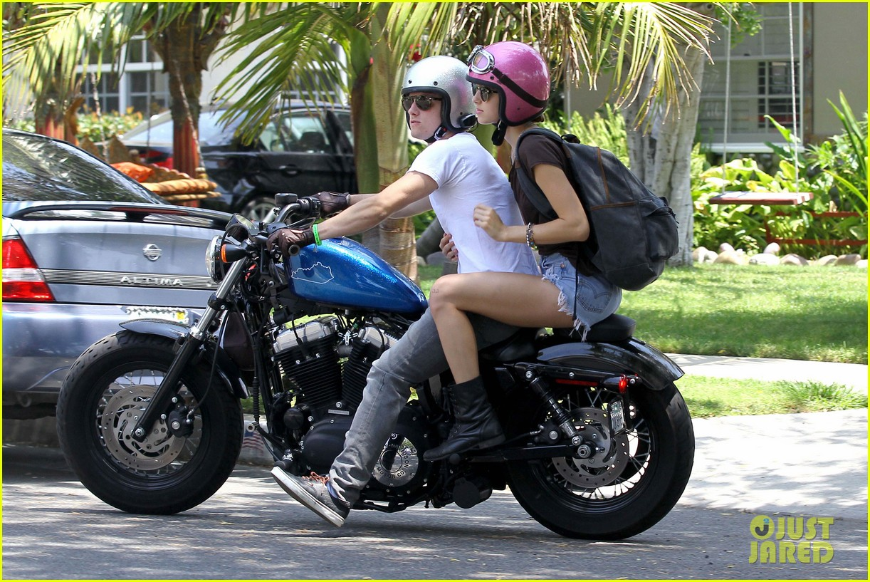 Full Sized Photo Of Josh Hutcherson Motorcycle Date 16