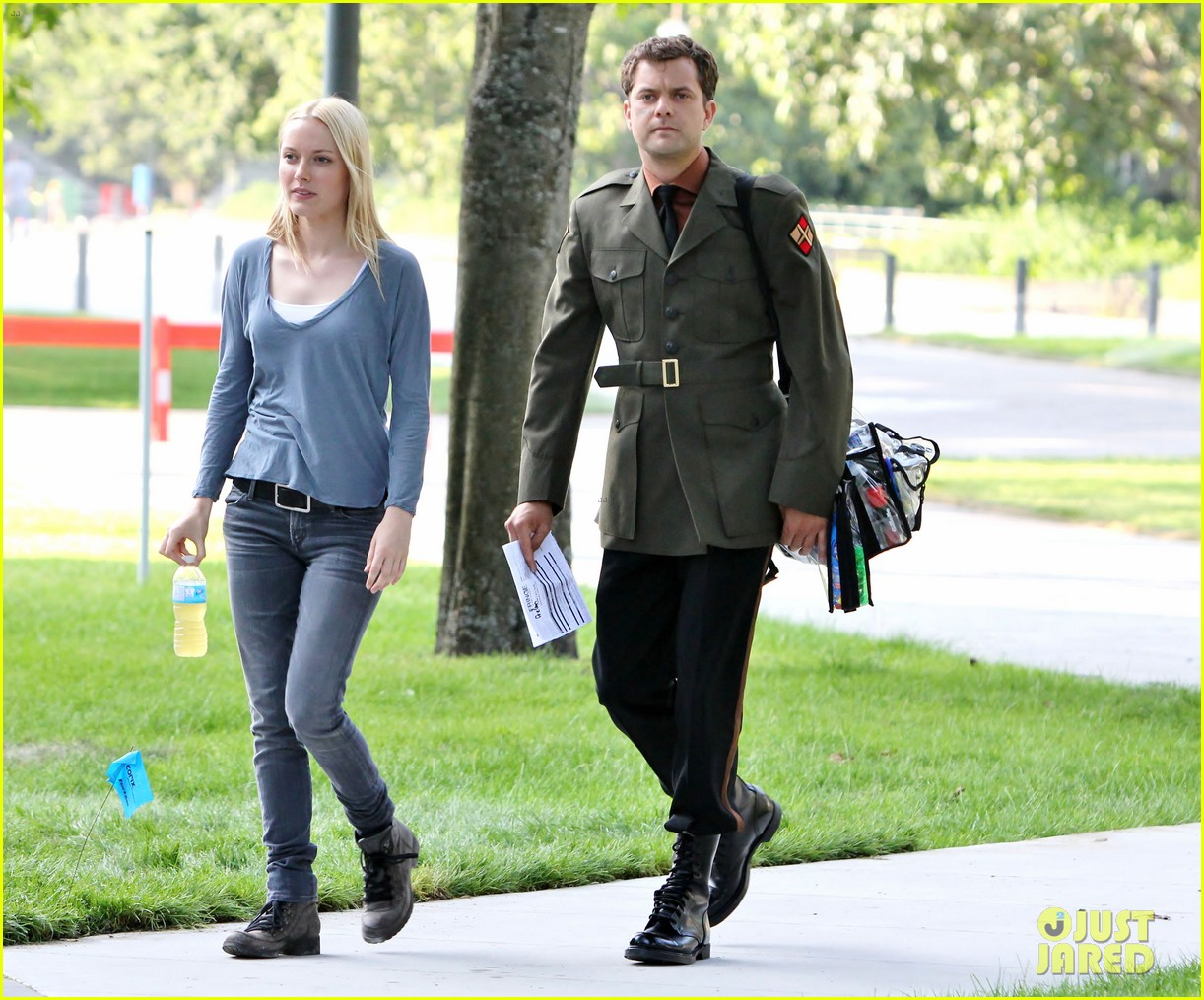 joshua jackson fringe set with georgina haig 11