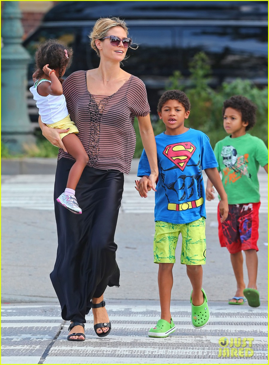 heidi klum lunch with kids 06