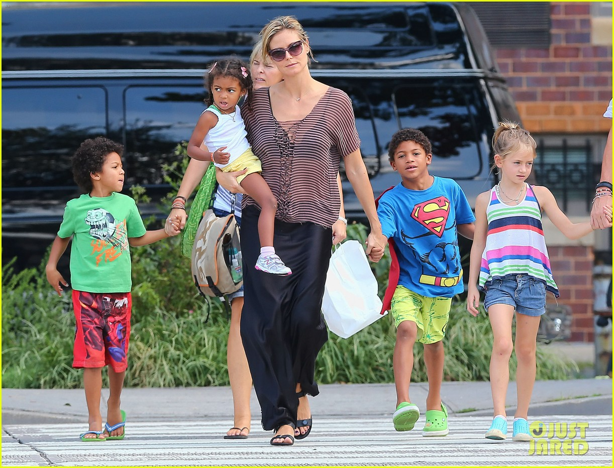 heidi klum lunch with kids 09