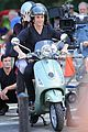 blake lively penn badgley vespa riders for gossip girl 05