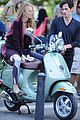 blake lively penn badgley vespa riders for gossip girl 09