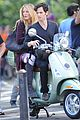 blake lively penn badgley vespa riders for gossip girl 13