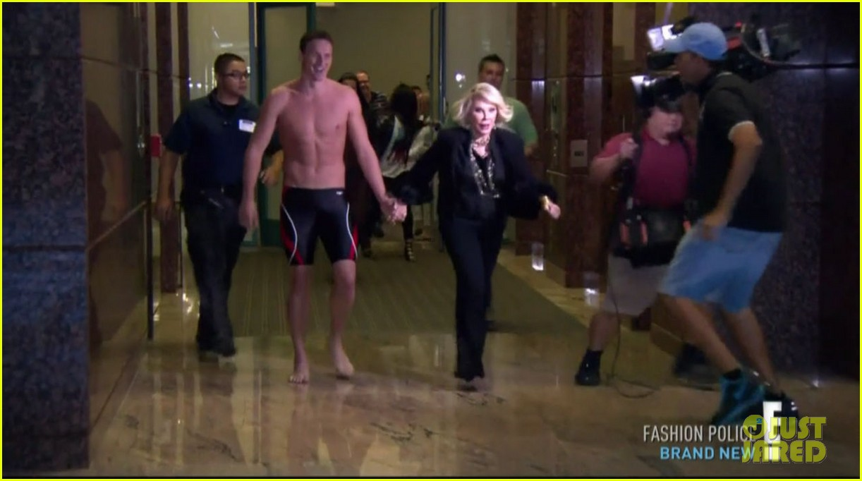 ryan lochte goes shirtless on fashion police 042709200
