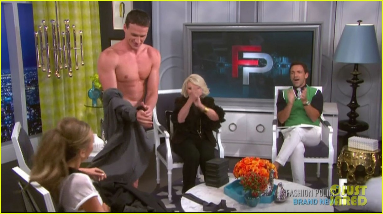ryan lochte goes shirtless on fashion police 09