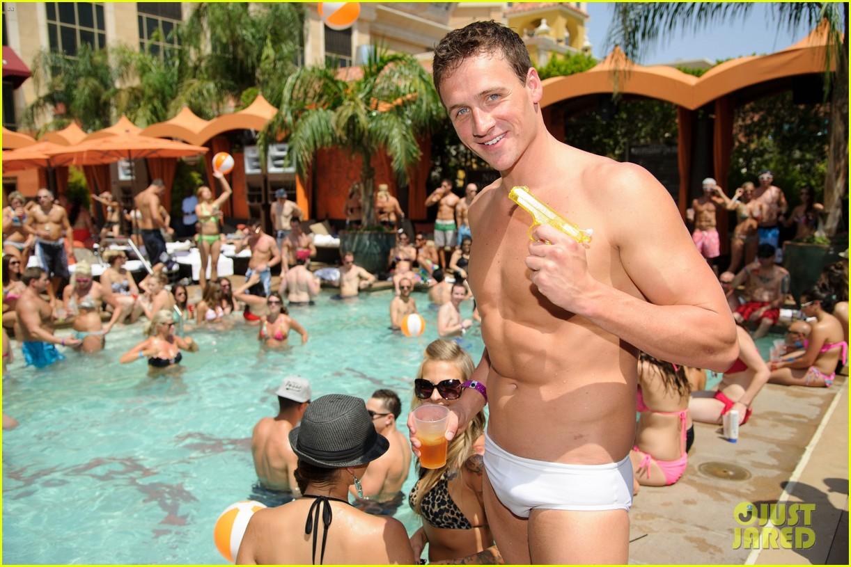 ryan lochte las vegas pool party weekend 182704463