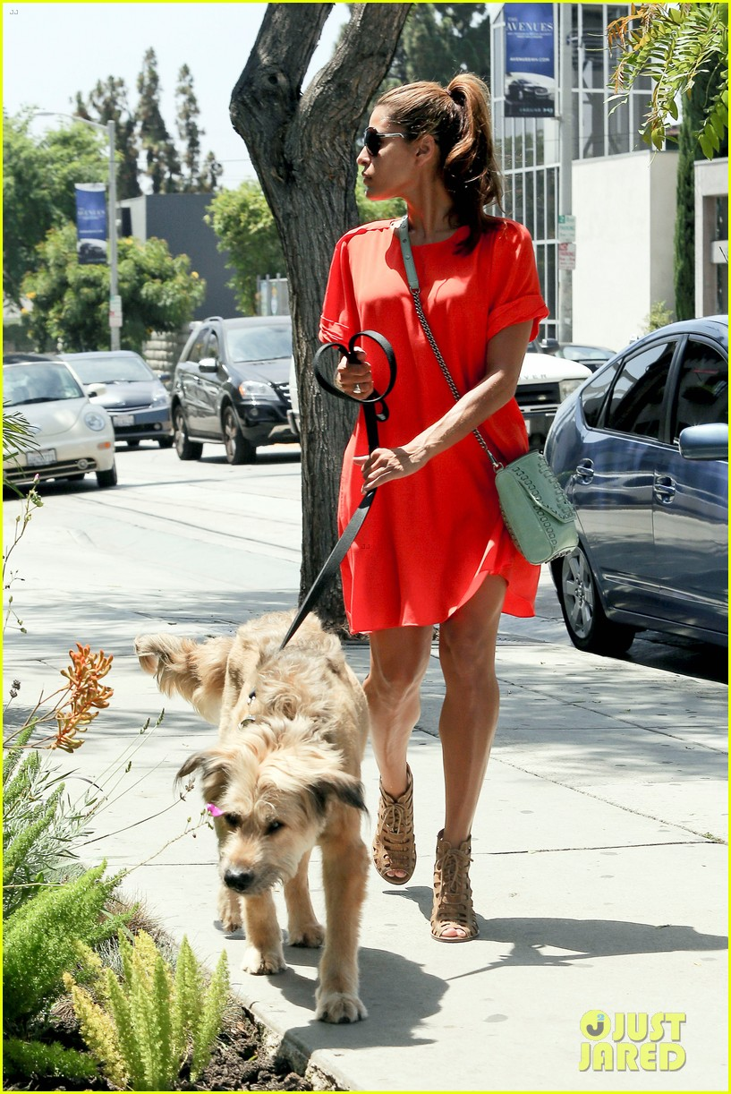 eva mendes beverly hills dog walker 142696069