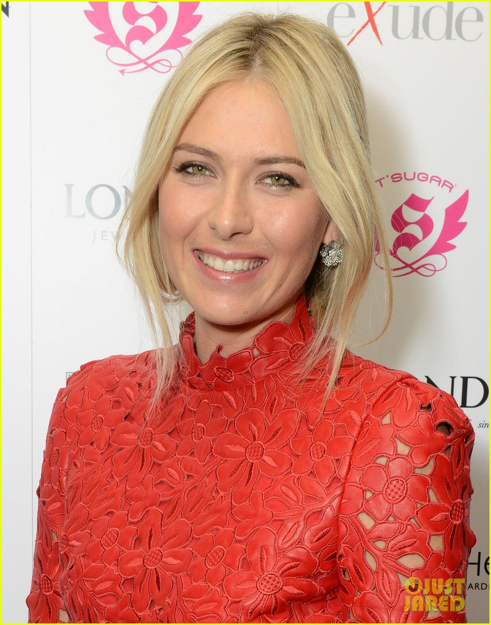 maria sharapova hamptons magazine cover party 02