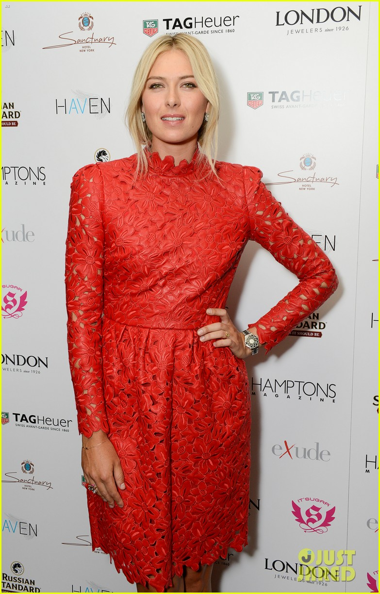 maria sharapova hamptons magazine cover party 07