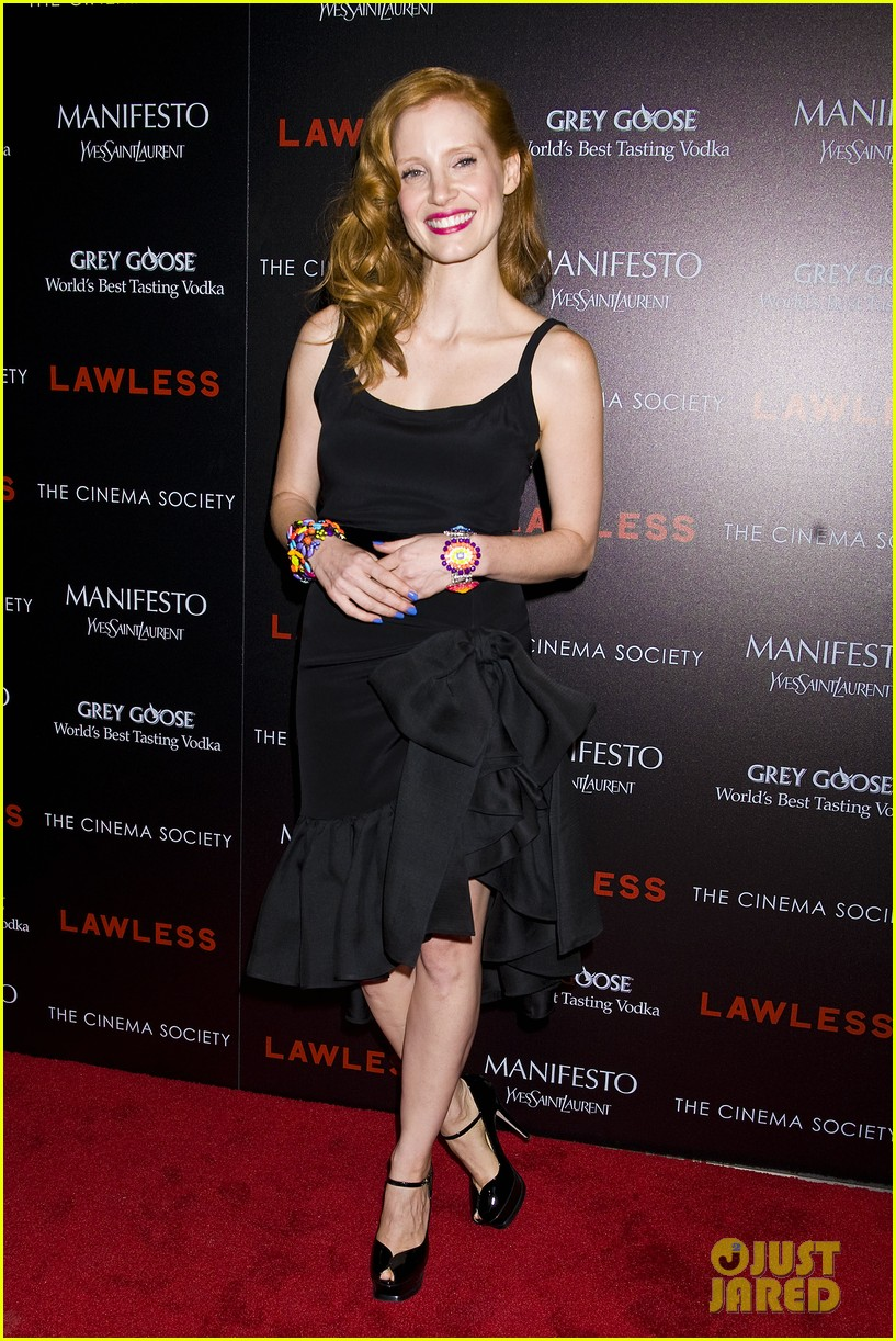 jessica chastain shia labeouf lawless nyc 06