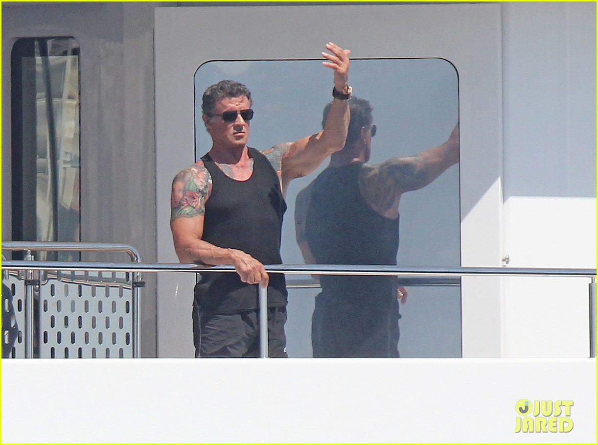 sylvester stallone family yacht vacation in cannes 02