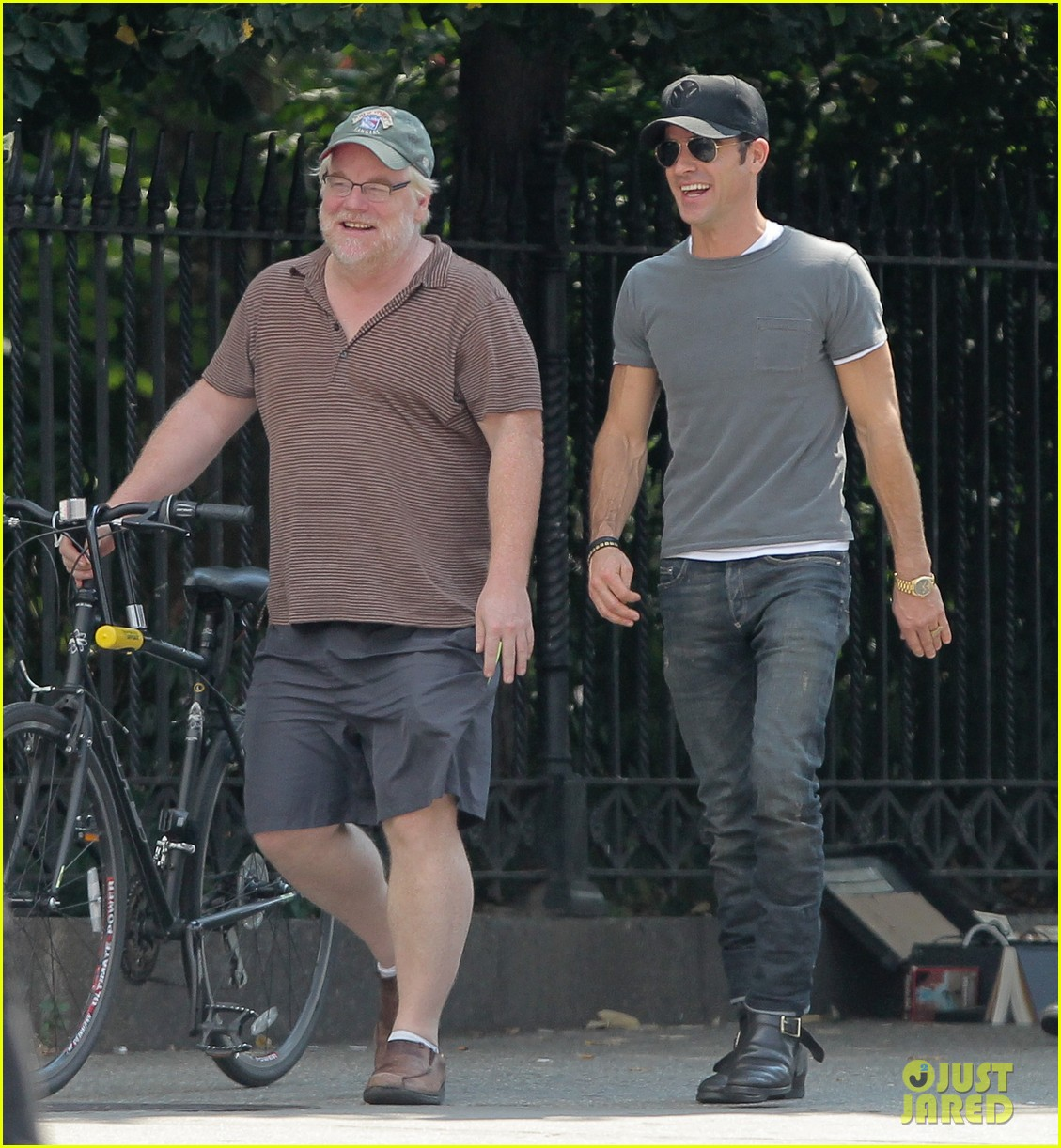 justin theroux lunch with philip seymour hoffman 042707317