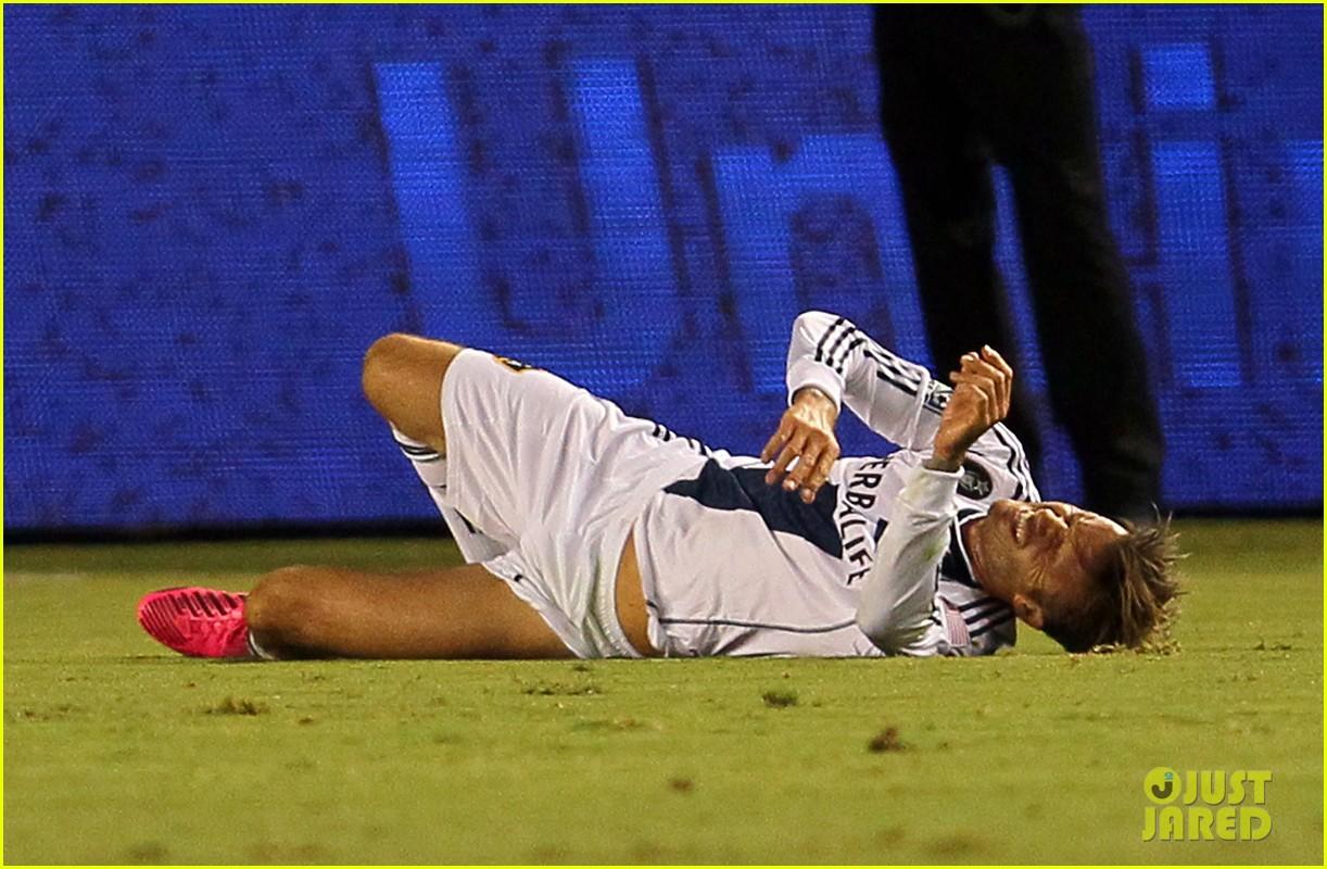david beckham injures ankle on romeos 10th birthday 03
