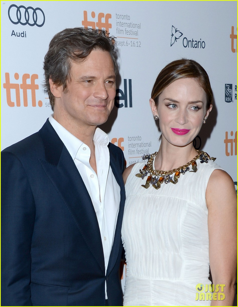 emily blunt arthur newman tiff premiere with colin firth 052718725