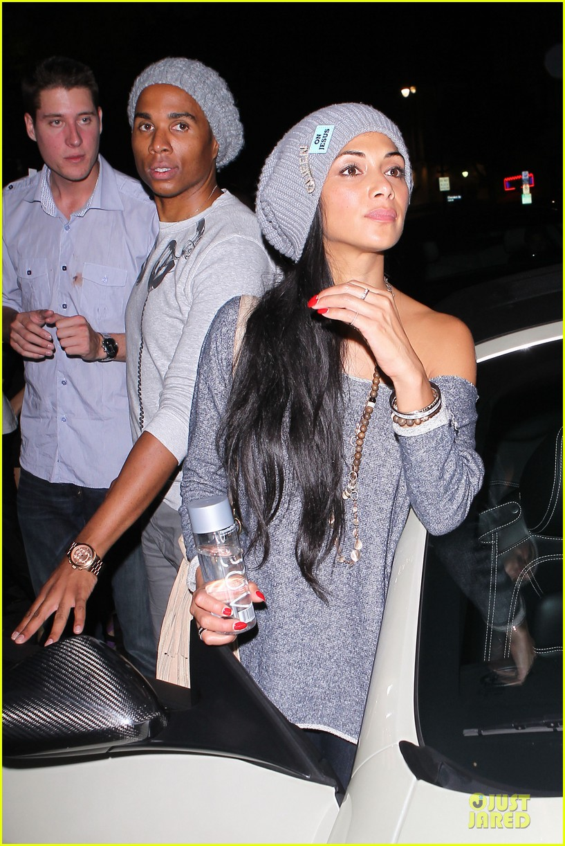 chris brown nicole scherzinger they were not kissing 04