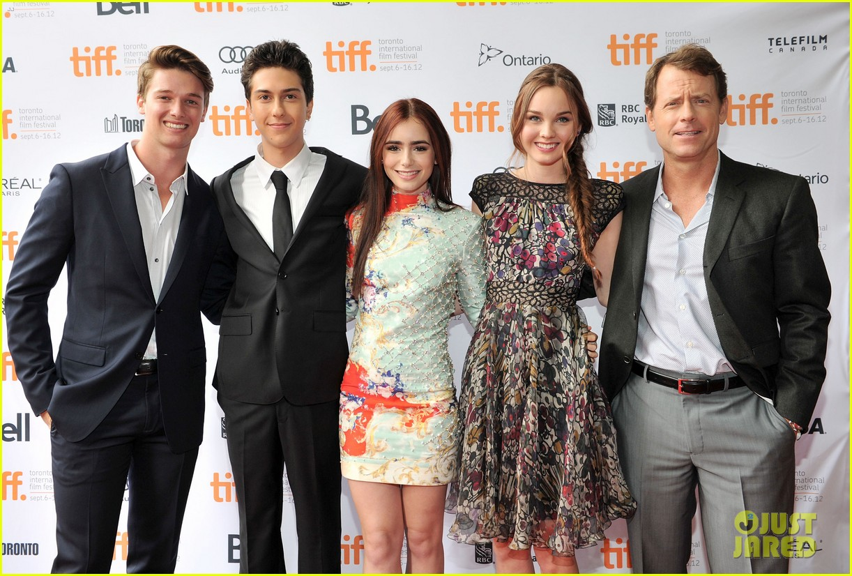 lily collins patrick schwarzenegger writers premiere tiff 03