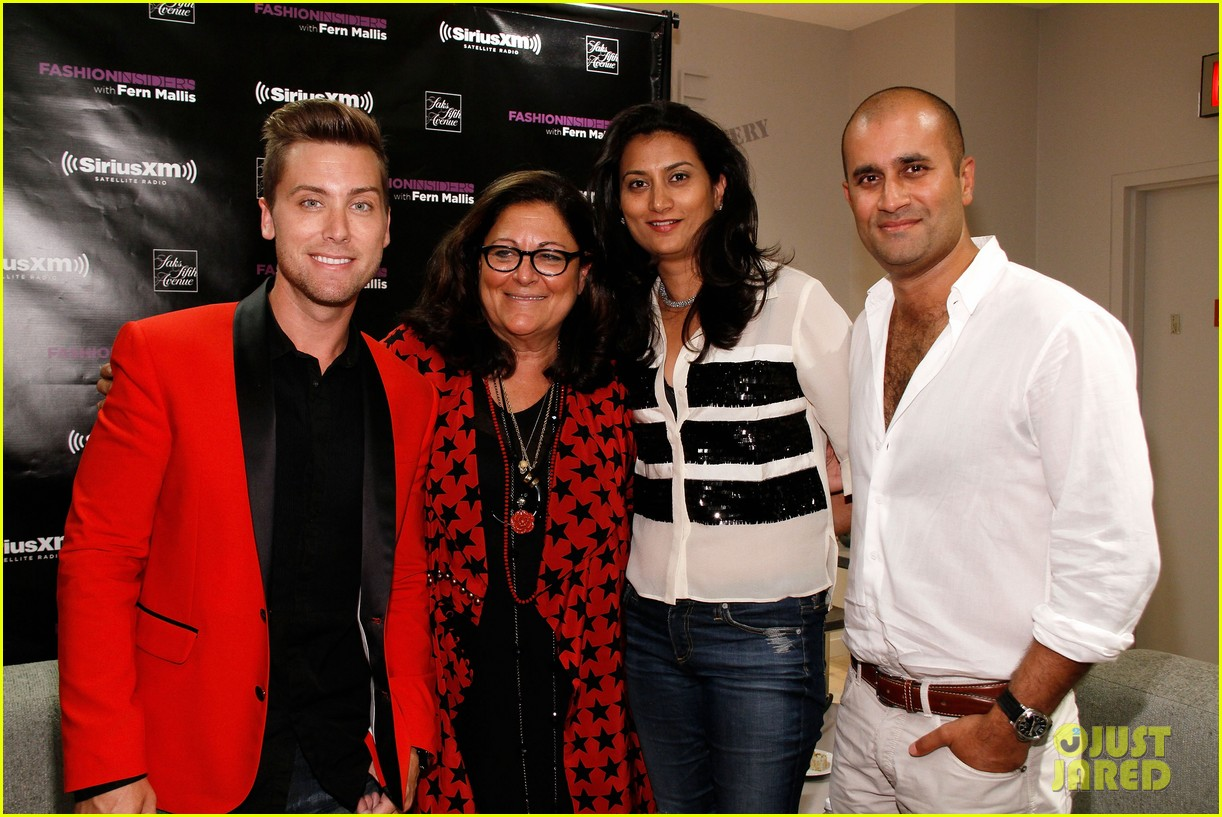 darren criss lance bass saks fashion night out 10