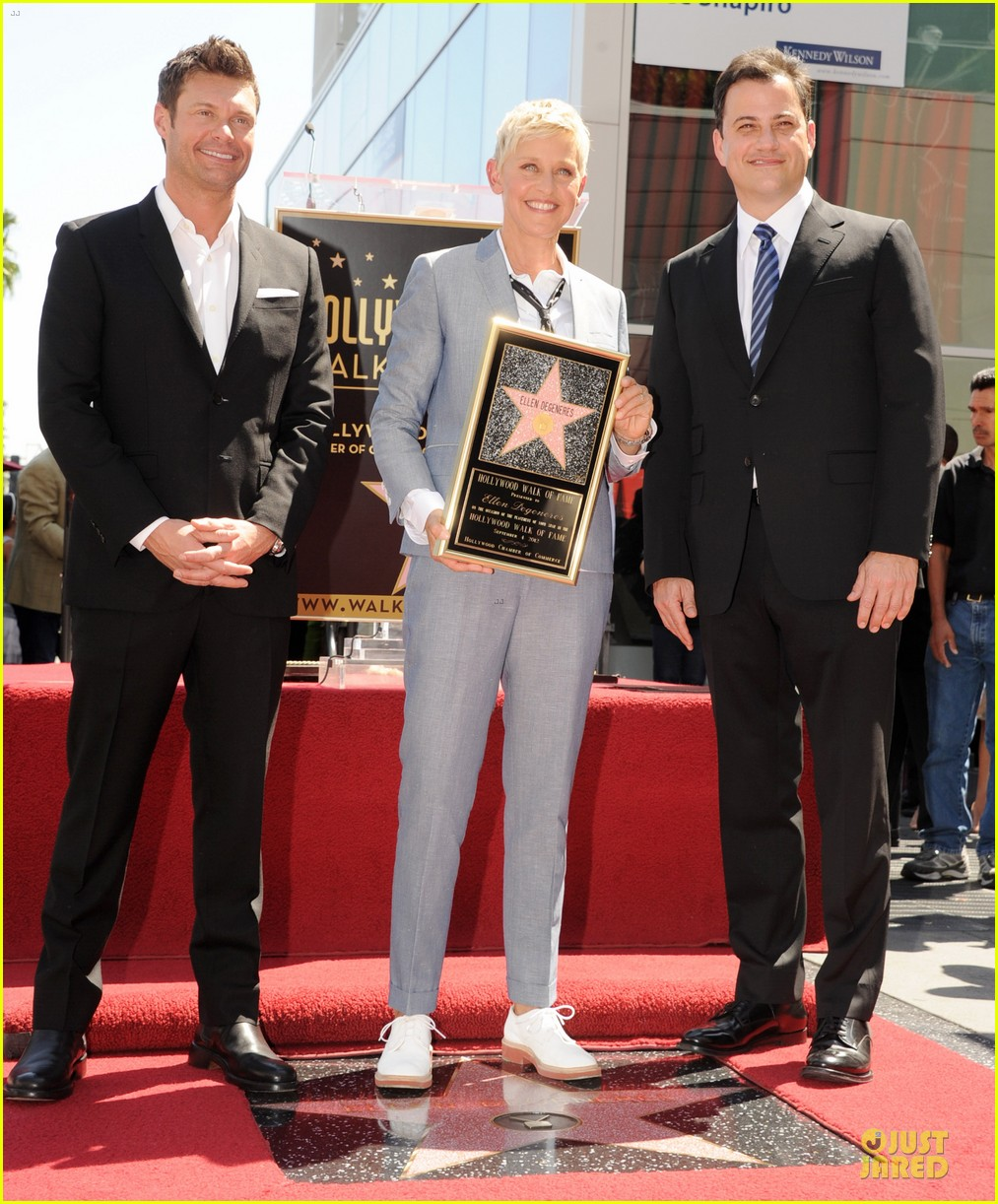 ellen degeneres star hollywood walk of fame 012714170