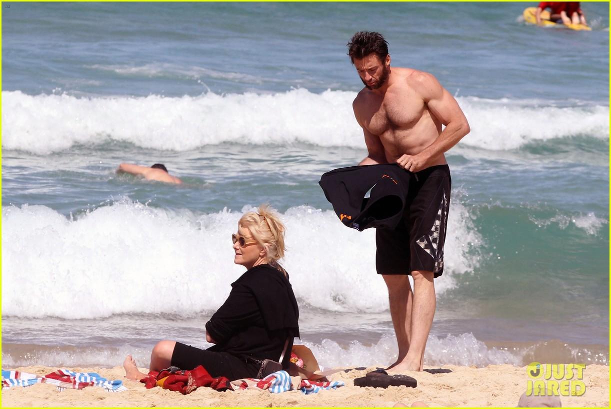 hugh jackman shirtless at bondi beach 59