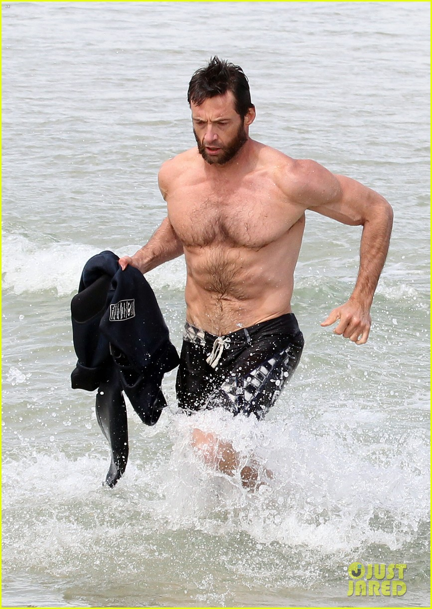 hugh jackman shirtless sydney stud 07