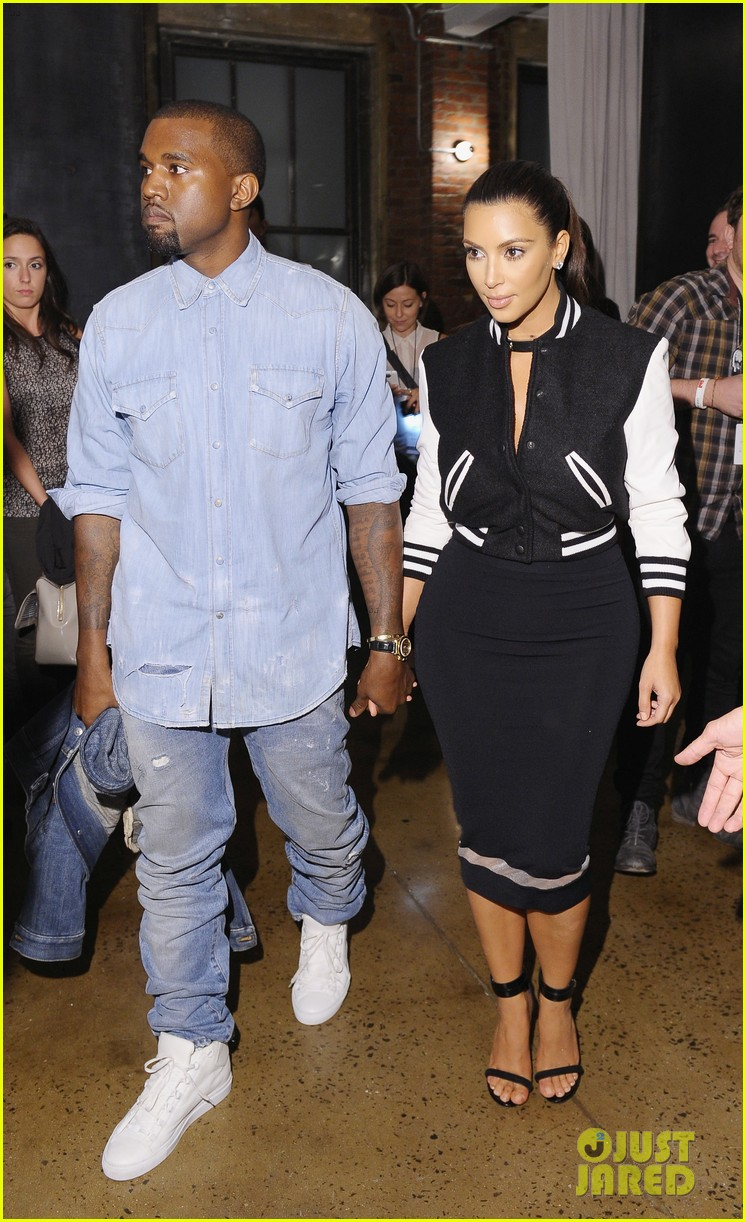 kim kardashian kanye west louise goldin fashion show 08