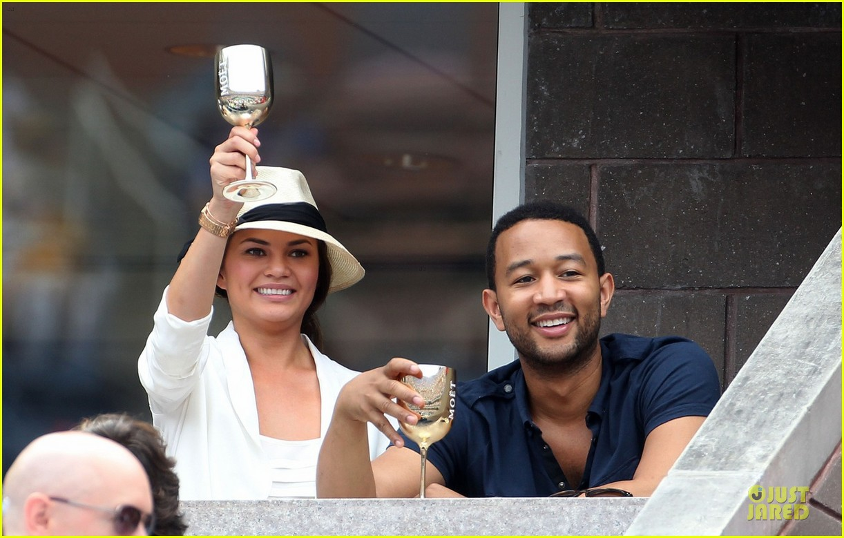 john legend chrissy teigen us open toast 052713657
