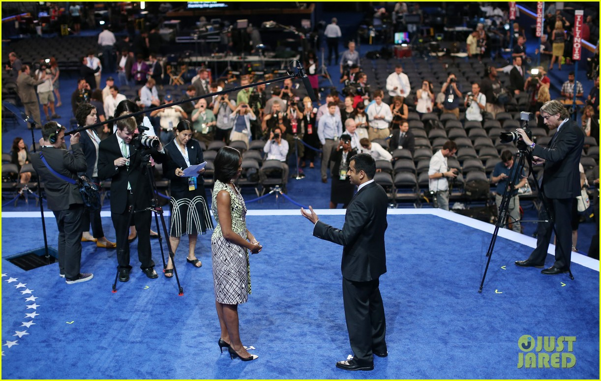 michelle obama preps democratic national convention in charlotte kal penn 15