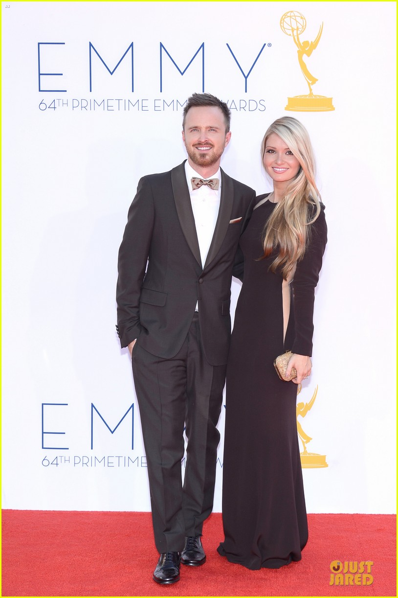 aaron paul lauren parsekian emmy awards 032727177