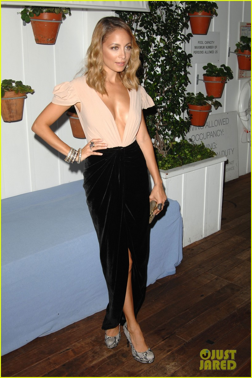 nicole richie dujour magazine cover party 01