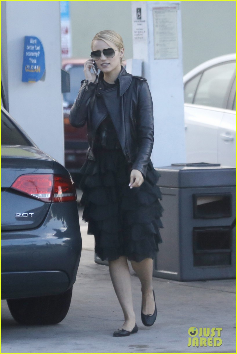dianna agron stylish gas station stop 01