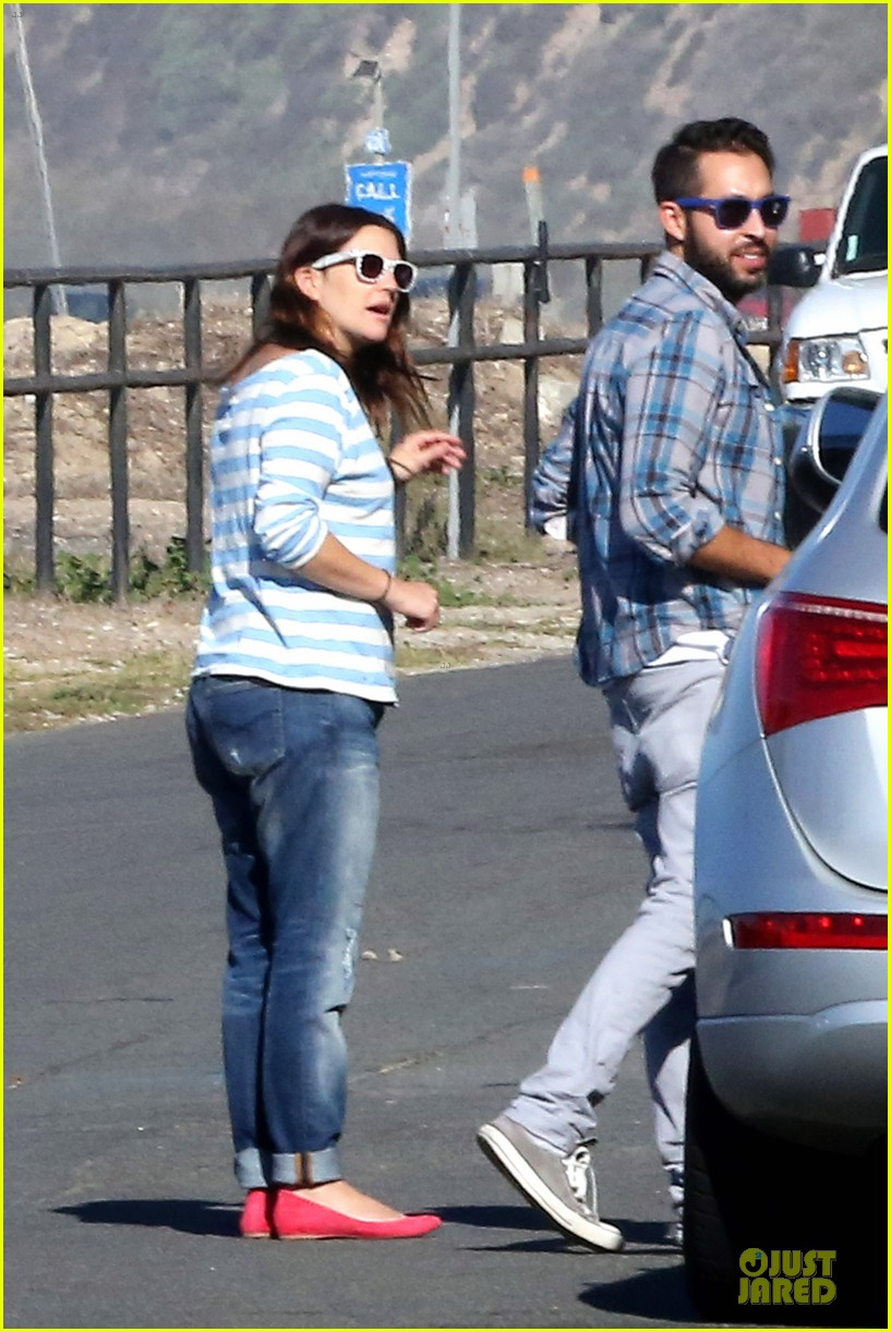 drew barrymore will kopelman post baby lunch 07