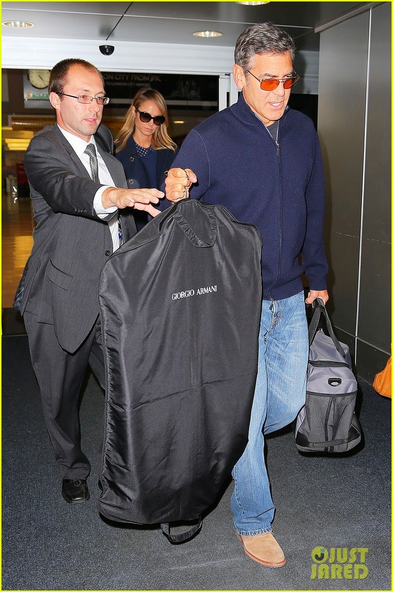george clooney stacy keibler new york city duo 012735038