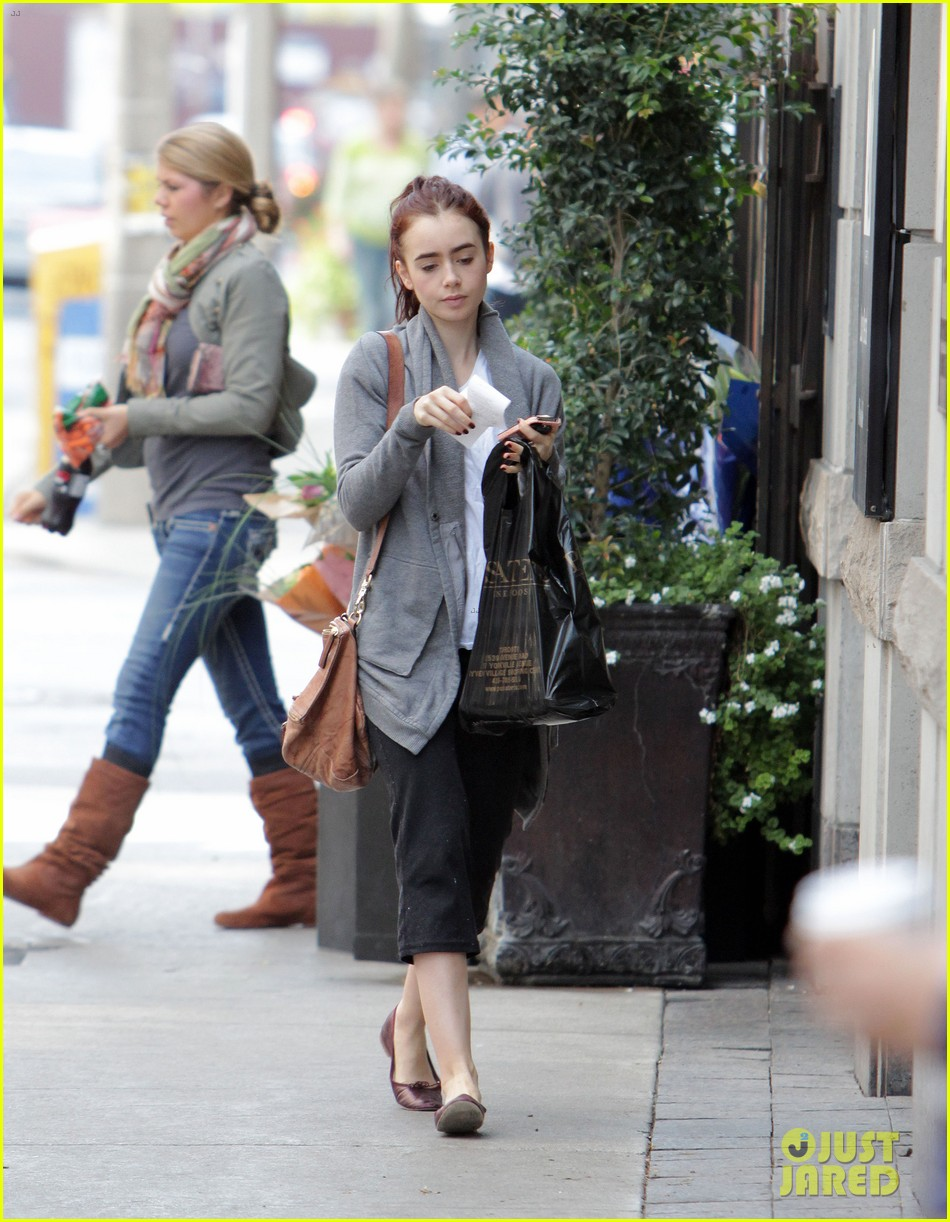 lily collins mortal instruments break in toronto 032733076