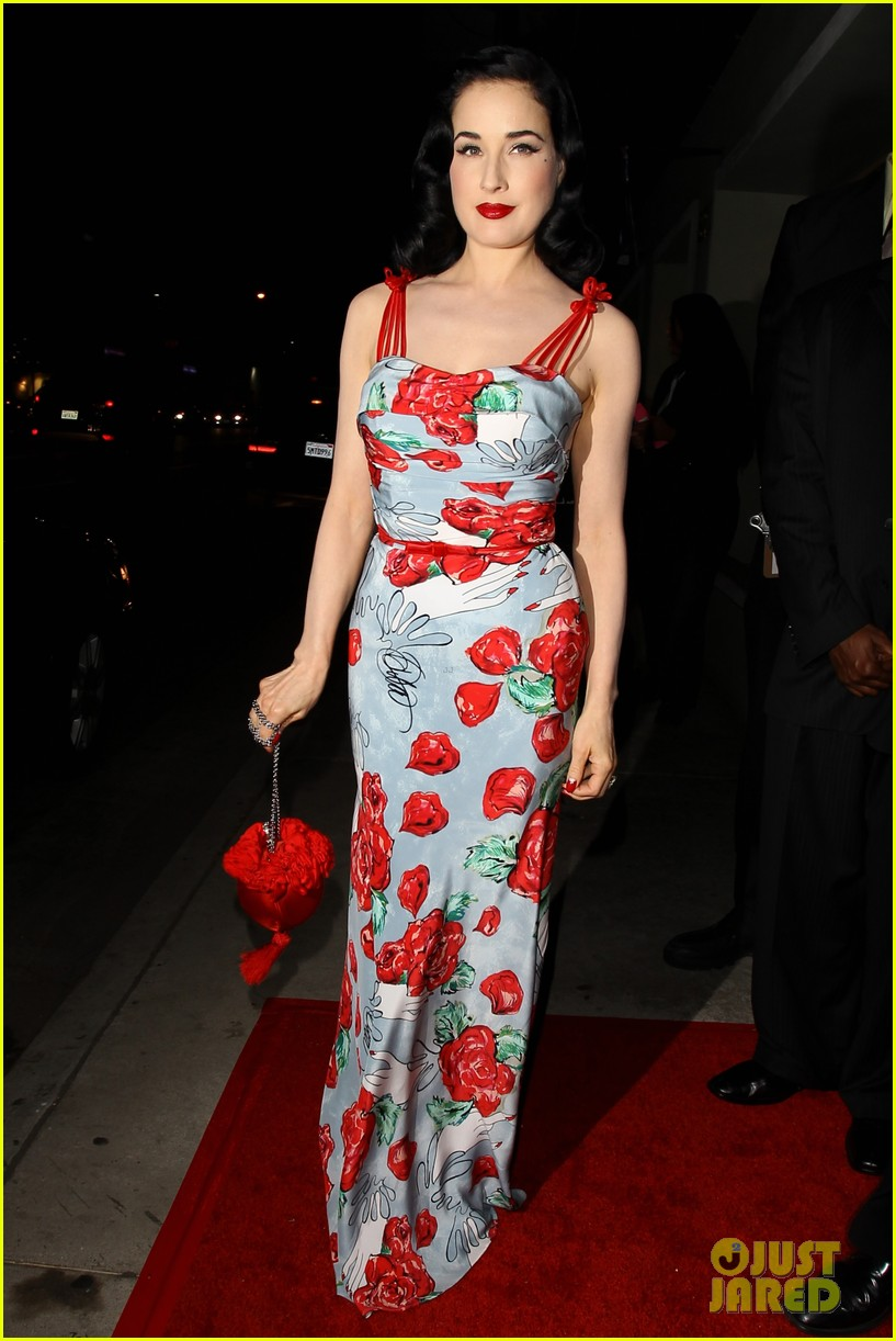 dita von teese launches dress collection los angeles 01