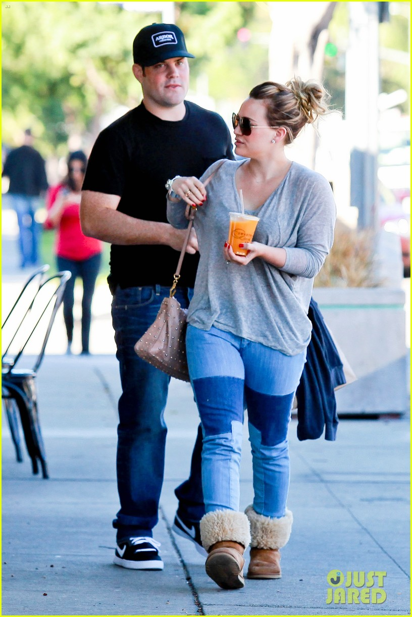 hilary duff mike comrie luca food shopping 292747042