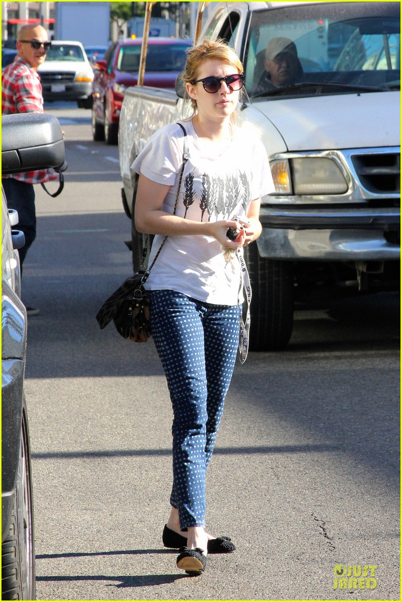 emma roberts promotes earth day 4 22 11