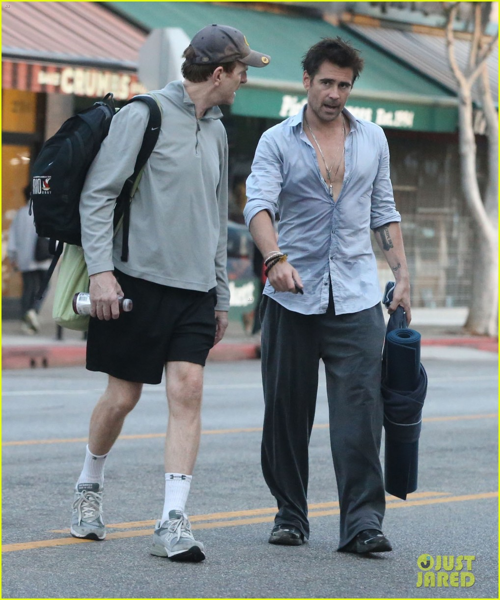 colin farrell sweaty saturday at the gym 032734351