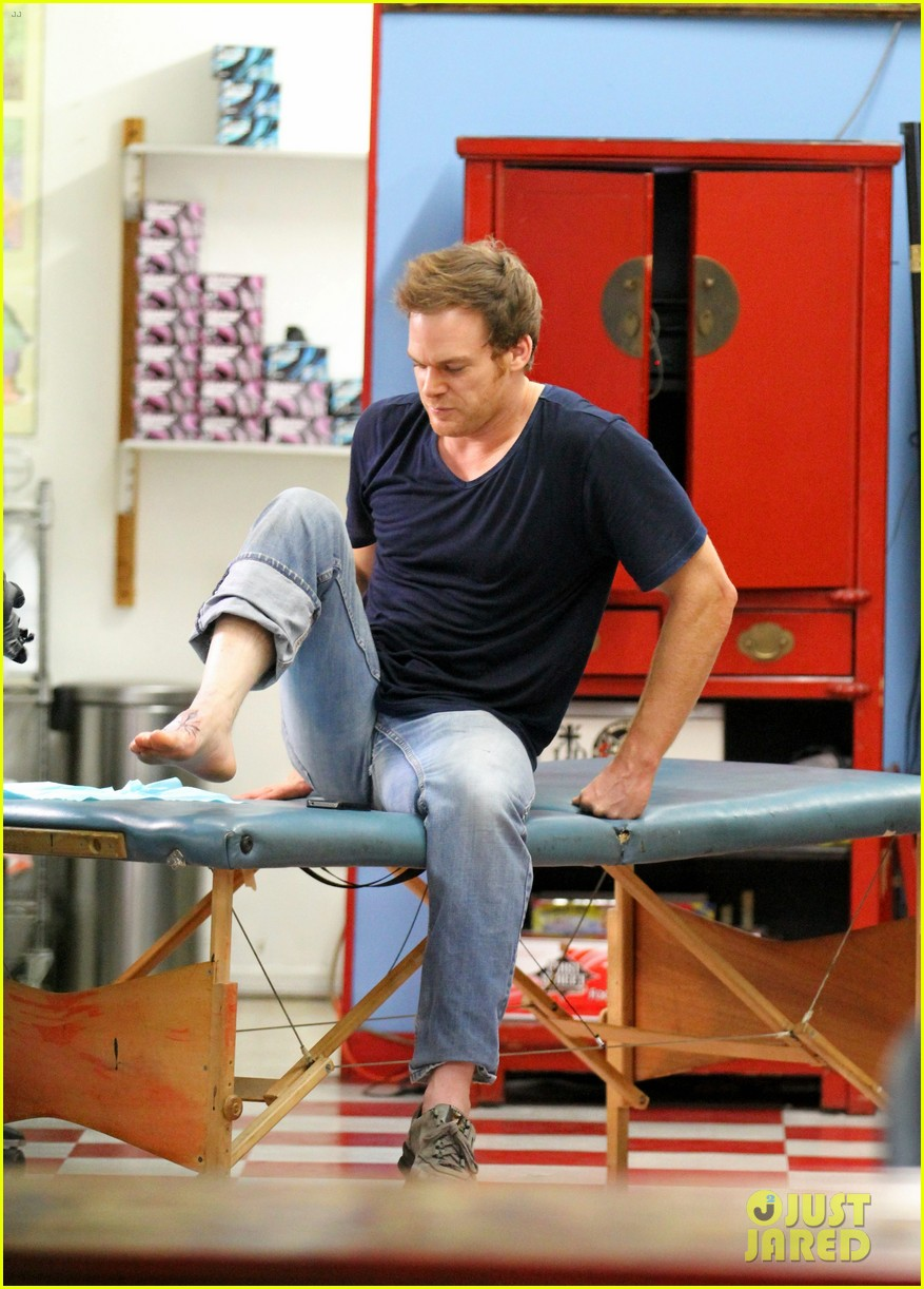 michael c hall gets new foot tattoo 152731828