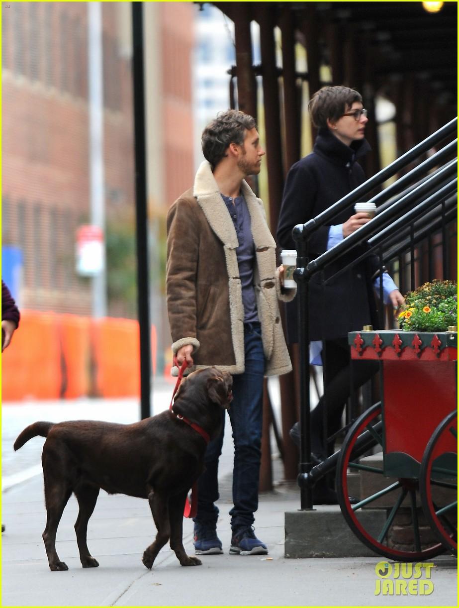 anne hathaway adam shulman coffee dog walk 24