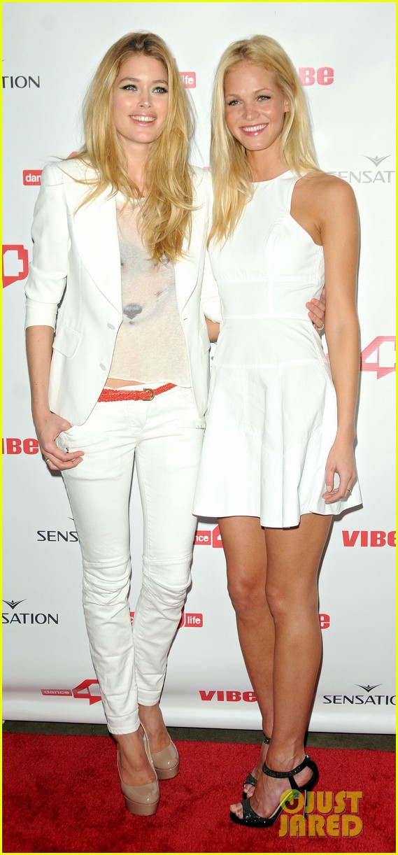 erin heatherton dance4life coctail party with doutzen kroes 01